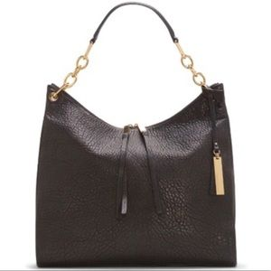 Vince Camuto Black Leather Avin Hobo